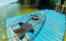 clear kayak in moorea